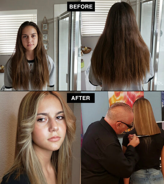 PRORITUALS Long Hair Dry Cutting Makeover - Client Before & After