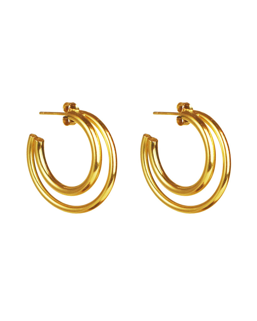 Charlie Gold Hoops