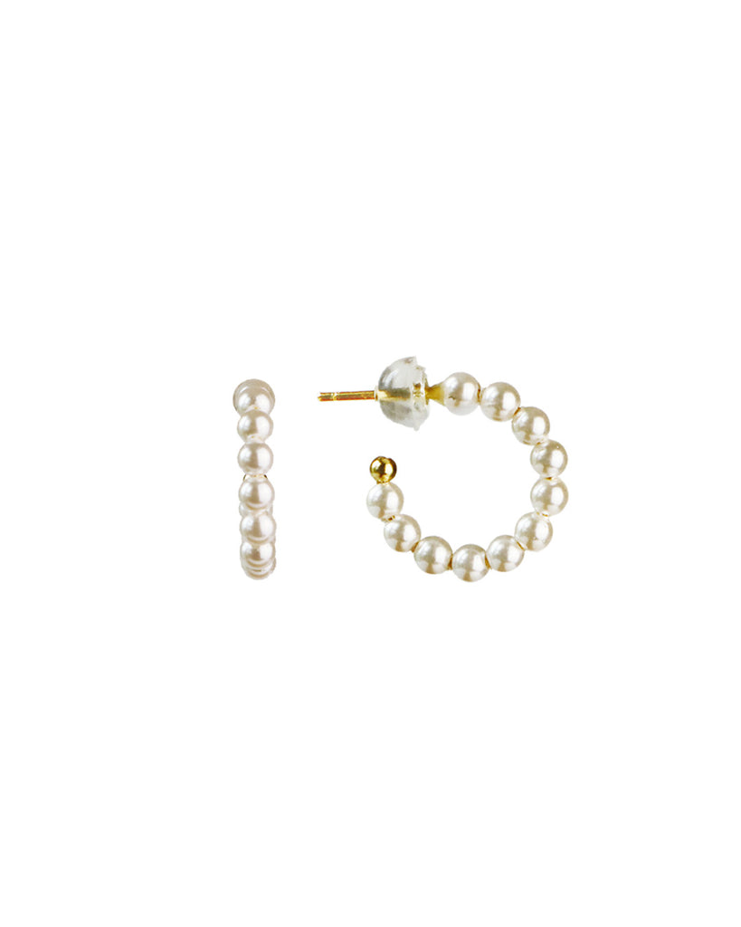 Sierra「Mini Pearl Hoops」