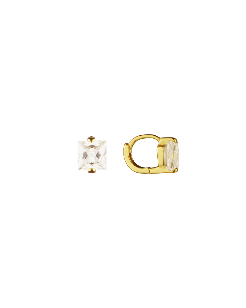 Arissa「18K Gold Vermeil Huggies」