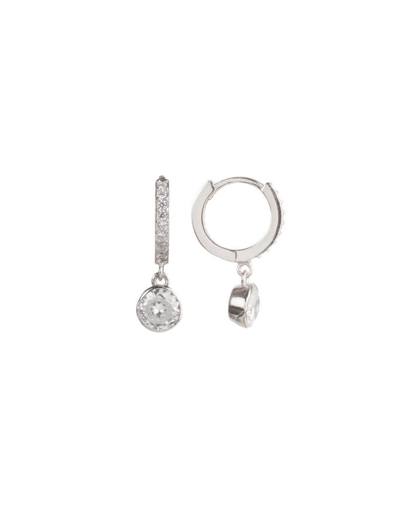 Paris Crystal「925 Silver Pavé Huggies」