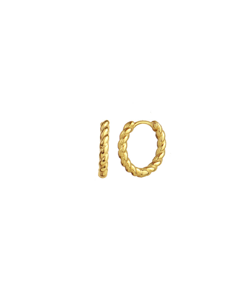 Ingrid「18K Gold Vermeil Huggies」