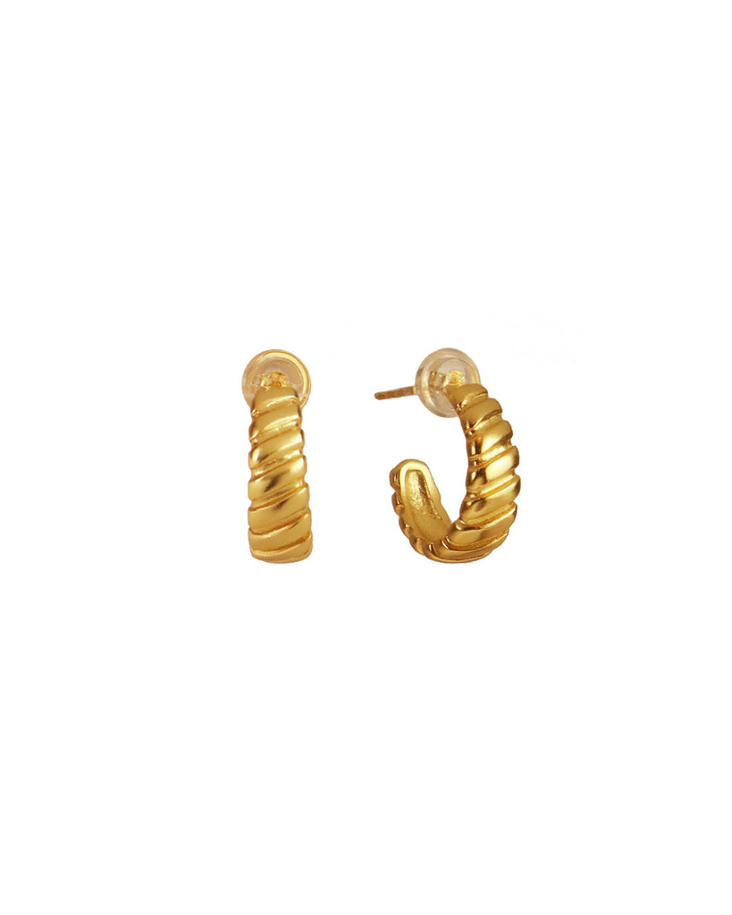 Carly「18K Gold Vermeil Hoops」