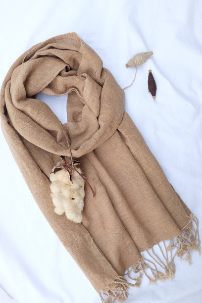 Aunty Aom's Natural Brown Scarf (S : 35x200cm)