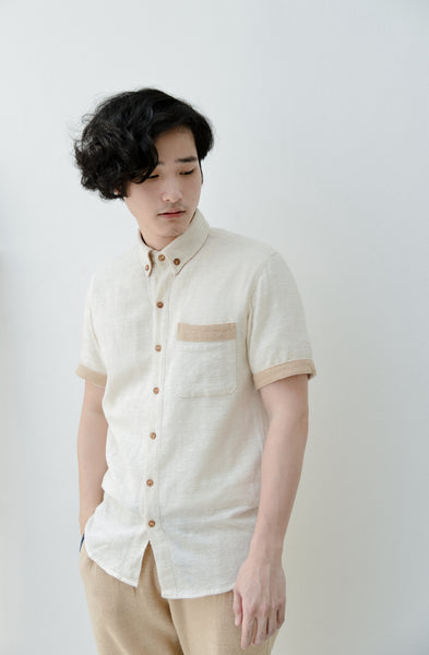 Oxford Collar Short Sleeve Shirt