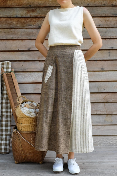 Side Single Pleat Skirt