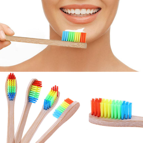 10 PCS Bamboo Toothbrush (Eco-Friendly)