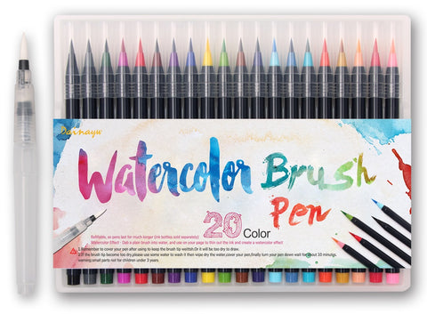 Watercolor Markers (Set of 20)