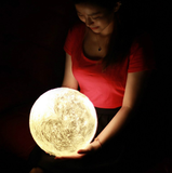 Moon Lamp - The Luna Night Light (With Wooden Stand)