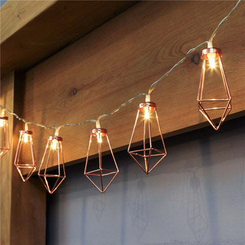 Rose Gold Lantern Lights