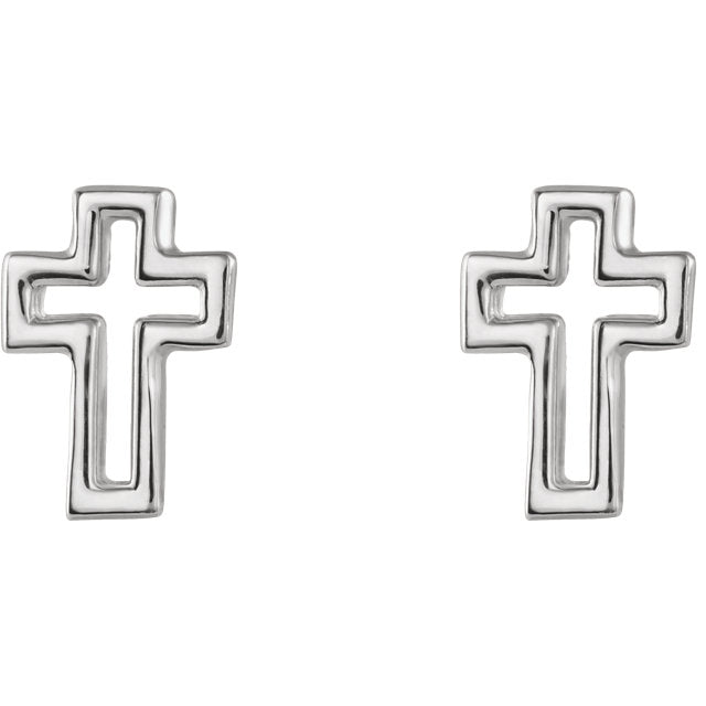 Open Cross Christian Earrings For Women