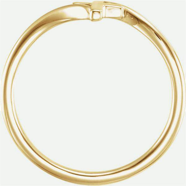 Top view of BYPASS 14k yellow gold Christian ring from Glor-e