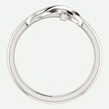 Infinity Cross White Gold Christian Ring From Glor-e Front View