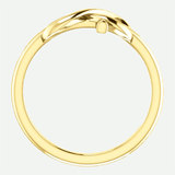 Infinity Cross Yellow Gold Christian Ring From Glor-e Front View
