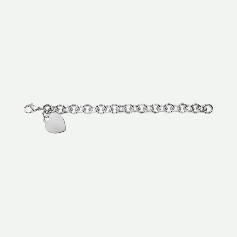 Side view of Cable Charm Christian Bracelet for women