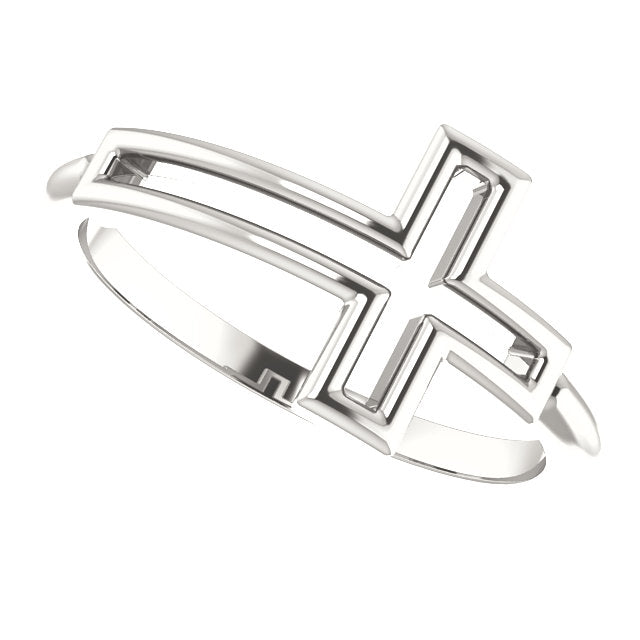 Cross Frame Christian Ring For Women