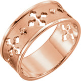 Pierced Cross Christian Ring For Women