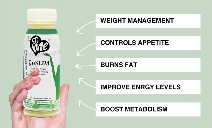 &Me GoSlim drink helps in weight control and fat loss