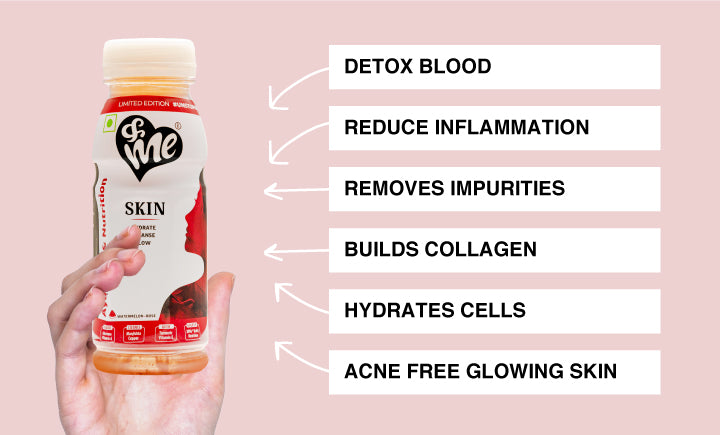 &Me Skin Drink helps build collagen, reduce acne, detox blood and give a glowing skin