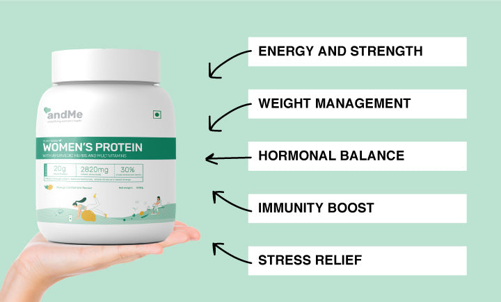 Benefits of &Me Women protein(Mango)