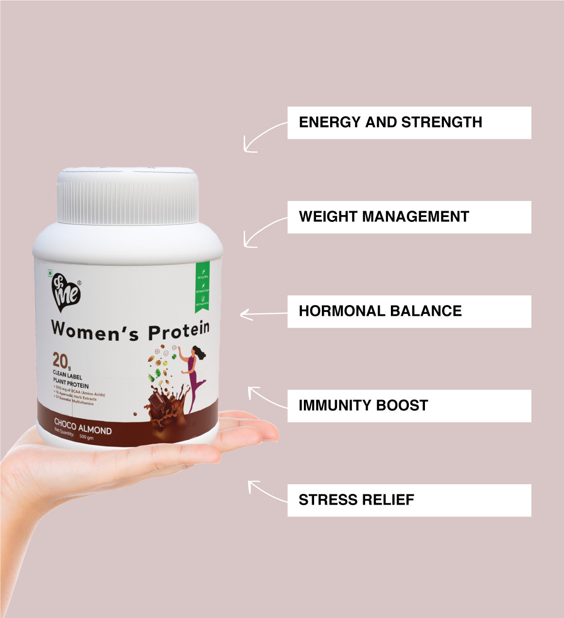 Benefits of &Me Women protein