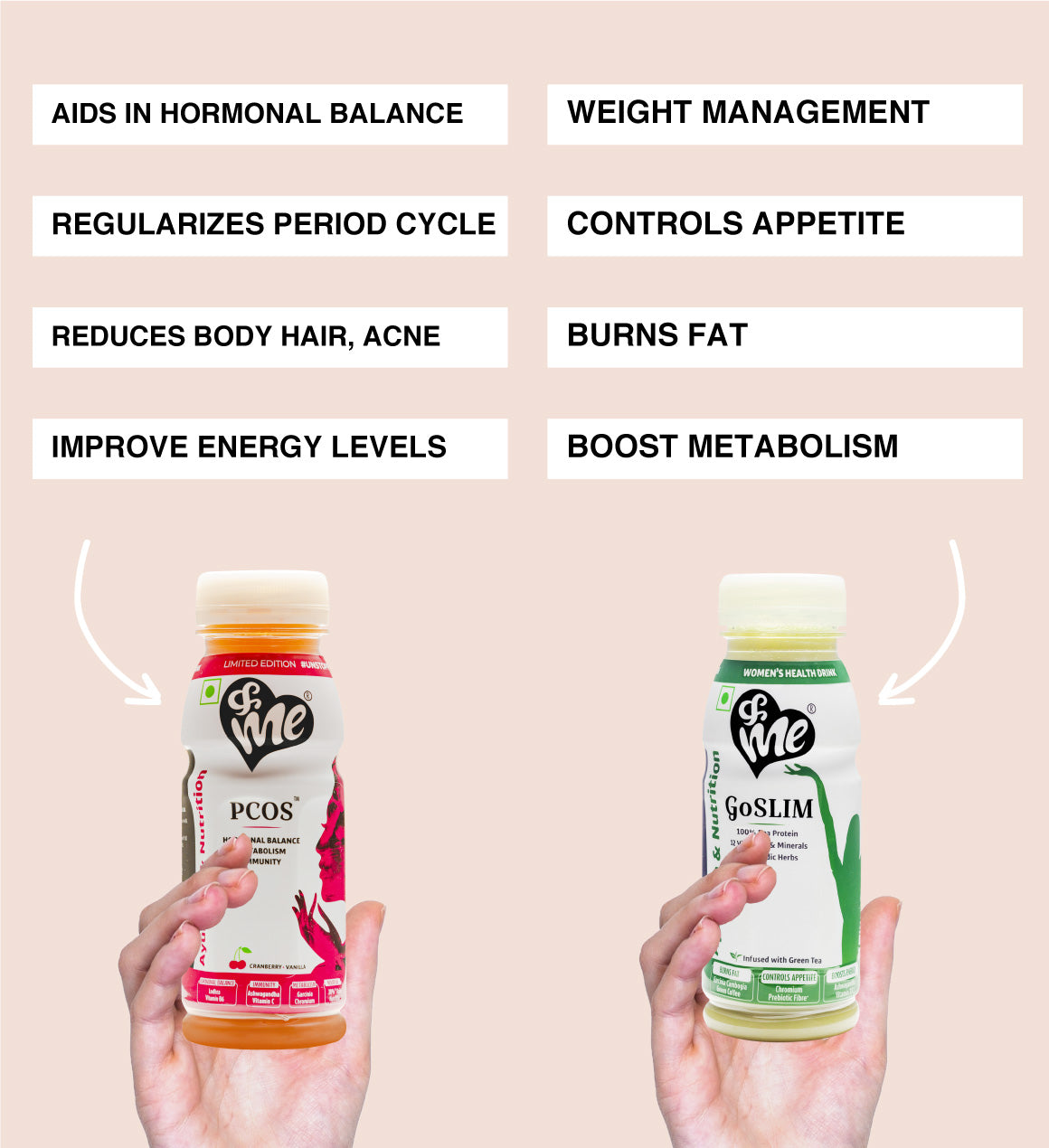 &Me PCOS and weight loss drink combo