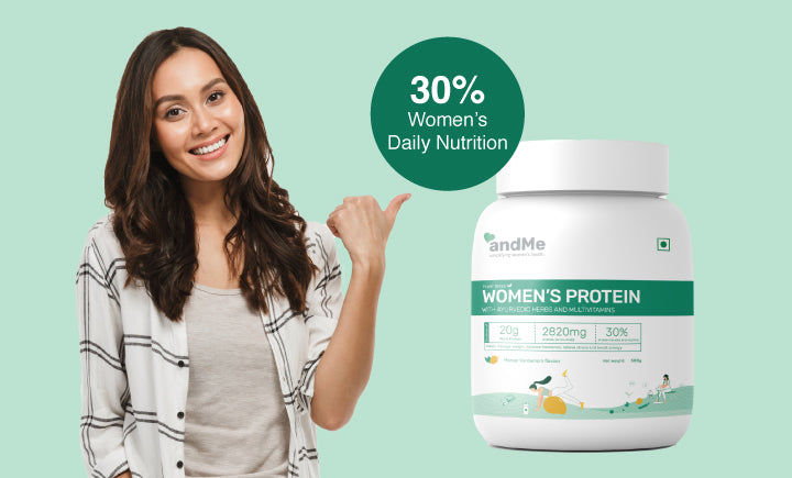 Women's protein with 30% daily nutrition