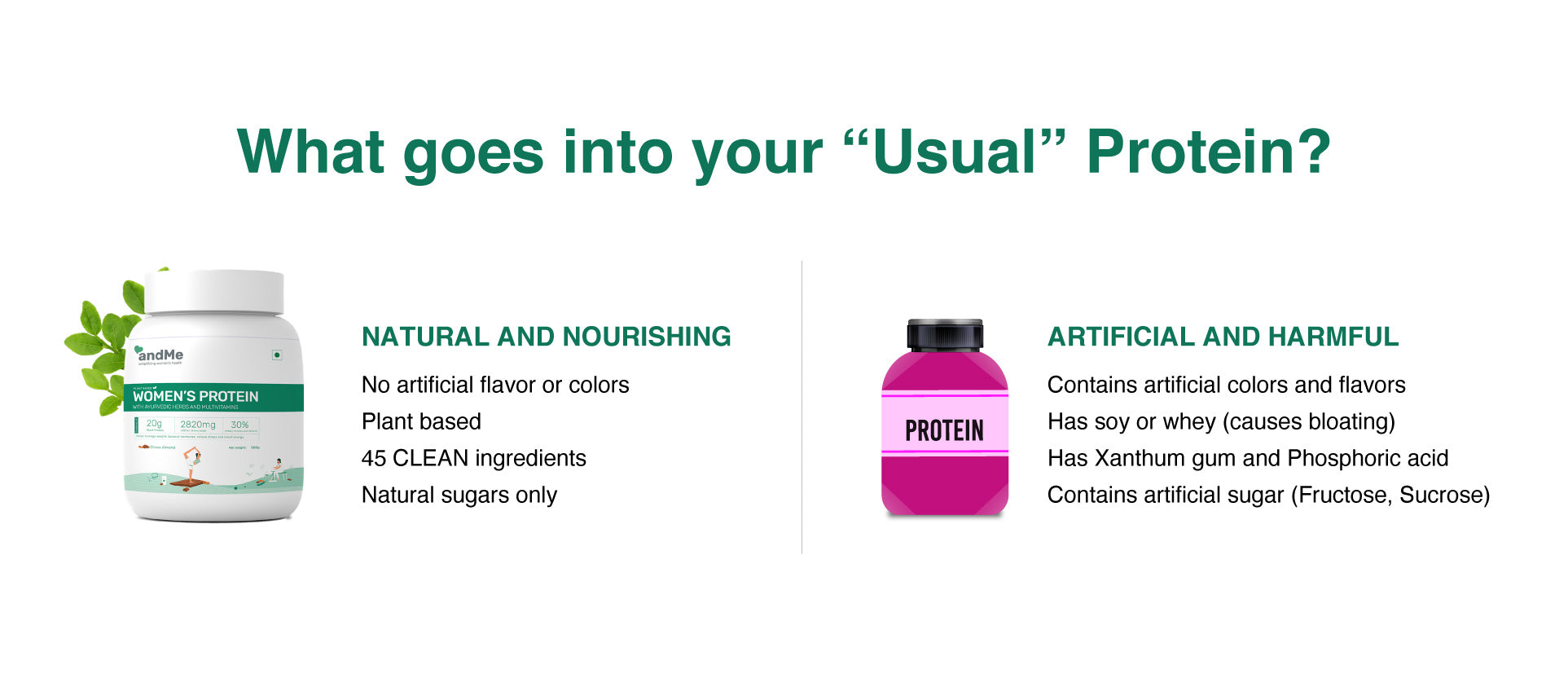 andMe is the best and cleanest plant based protein in the market