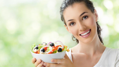 woman with protein diet