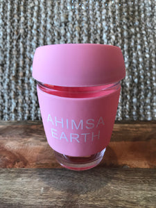 Glass Coffee Cup in Pink