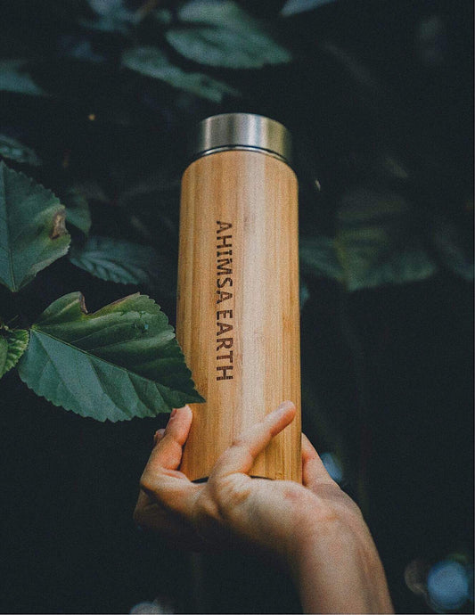 Stainless Steel and Bamboo Drink Bottle