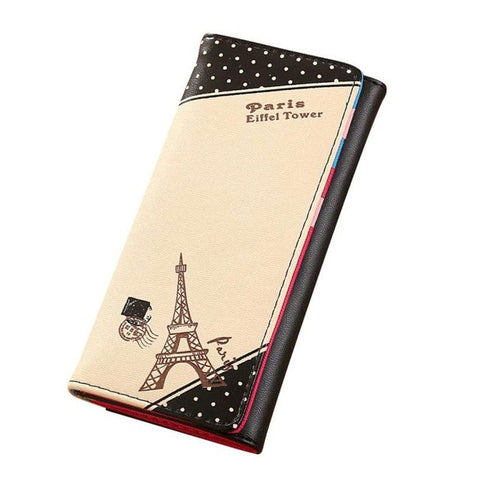 Xiniu women wallets women's handbags small clutch Paris Eiffel Tower Hasp Coin Purse  carteira feminina couro #EL - Fashion Shopping 247