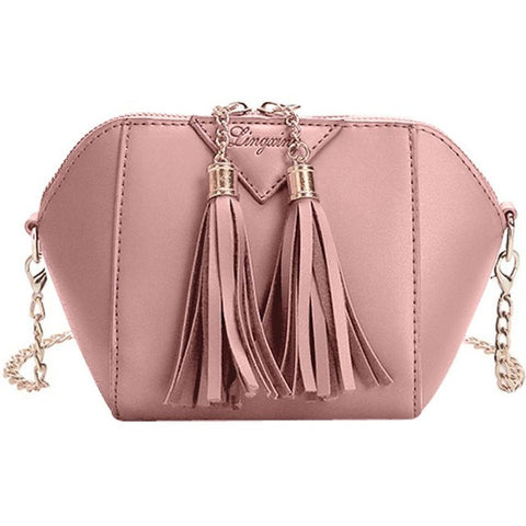 Xiniu women messenger bags small leather handbag Tassel cross body chains shoulder bags bolsa feminina Dropshipping#6M - Fashion Shopping 247