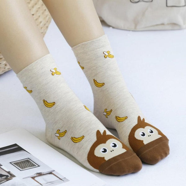 Flexible Lovely Cartoon Women Socks High Quality Cotton Funny Style Socks Autumn Winter Warm Socks For lady Girls - Fashion Shopping 247