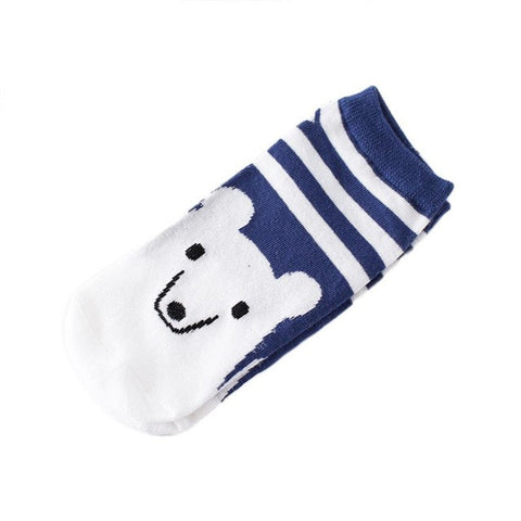 1Pairs Women Funny Socks Elasticity Comfortable Cartoon Animal Partten Cute Sock Slippers Short  Ankle Socks - Fashion Shopping 247