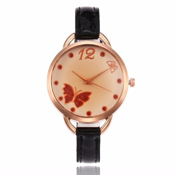 2017 New Fashion Women PU Leather Elegant ladies watches Band Quartz Analog Wrist Watches montres femmes Relogio Feminino #905 - Fashion Shopping 247