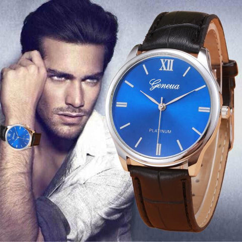 Woman Mens Retro Design Leather Band Analog Alloy Quartz Wrist Watch - Fashion Shopping 247