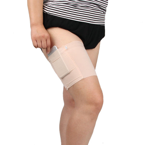 Women Thigh Bands Sock Anti-skid Thigh Sock Leg Warmer with Cellphone Pocket - Fashion Shopping 247