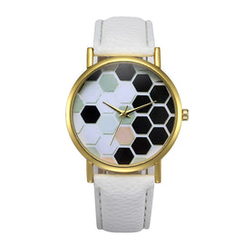 Fashion Womens Retro Design Leather Band Analog Alloy Quartz Wrist Watch - Fashion Shopping 247