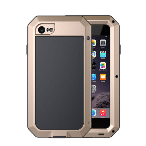 Luxury Doom Armor Dropproof Shockproof Metal Aluminum Case + Silicon Protective Cover for iPhone 7 6 6S Plus 5 5s SE Phone Cases - Fashion Shopping 247