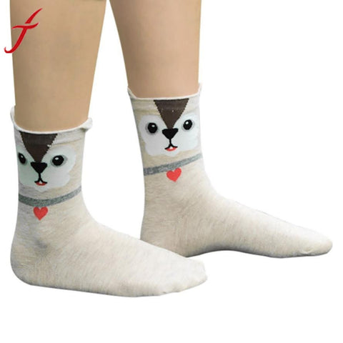Feitong Brand 1Pair Soft Funny Socks Women Girls Cute Little Owl Harajuku Animal Lady Socks Fashion Stripe calcetines mujer Sock - Fashion Shopping 247