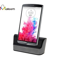 2016 Phone Accessories New High Quality Dual Desktop Dock USB Sync Charger Cradle with Battery Charging for LG G3 D855 - Fashion Shopping 247