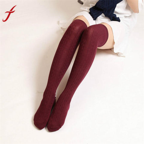 Feitong 60-80cm Stockings	Women Winter Knitted Warmers Over knee Long Boot Thigh-High Warm thigh high socks medias - Fashion Shopping 247