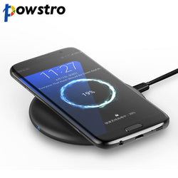 Powstro Fast Wireless Charger With Heat Dissipation Qi Compatible USB Cable Fast Charging For iPhone 8 for Samsung S8 Note 5 - Fashion Shopping 247