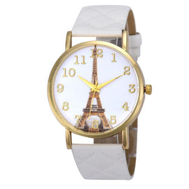 Paris Eiffel Tower Women Faux Leather Analog Quartz Wrist Watch - Fashion Shopping 247