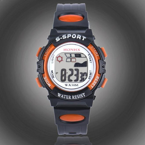 Waterproof Children Boys Digital LED Sports Watch Kids Alarm Date Watch Gift - Fashion Shopping 247