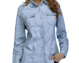 Women Denim Shirt Fashion Style Long Sleeve Casual Shirts Women Blouse Tops - Fashion Shopping 247