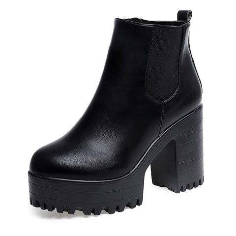 Women Boots Square Heel Platforms Leather Thigh High Pump Boots  Shoes - Fashion Shopping 247