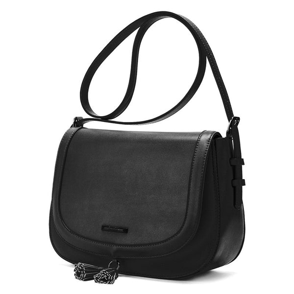 ECOSUSI New Fashion Women Messenger Bags High Quality PU Leather Women Crossbody Bag With Tassel Female Crossbody Bag Saddle Bag - Fashion Shopping 247