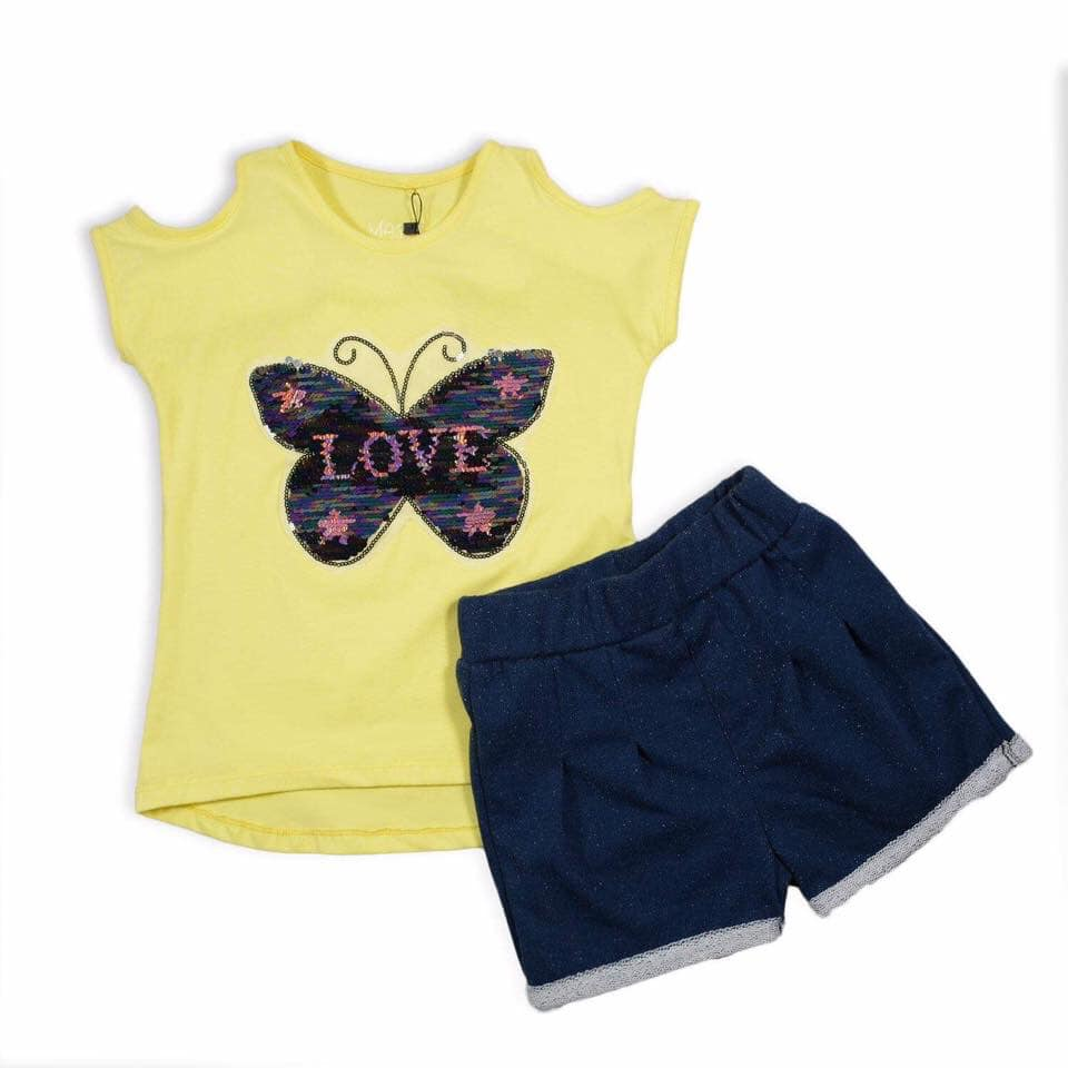 Marz Butterfly Pajama Yellow